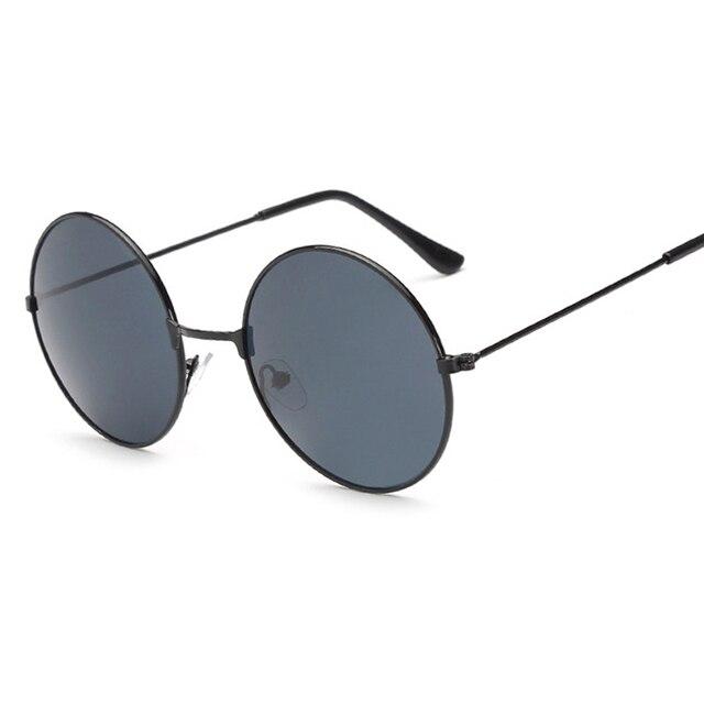 Rodada do vintage Óculos De Sol Das Mulheres dos homens do sexo feminino  marca Armações De Metal ... 06d4245bbd