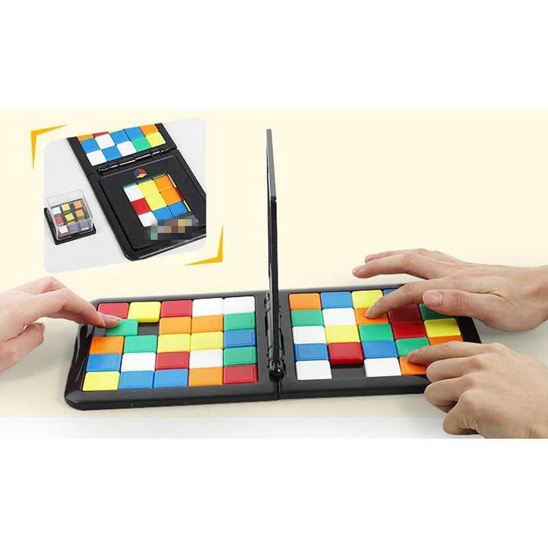 Puzzel Kubus 3D Puzzel Race Cube Board Game Kids Volwassenen Onderwijs  Speelgoed Ouder Kind Dubbele Snelheid Spel Magic Cubes spel Voor Kinderen|  | - AliExpress