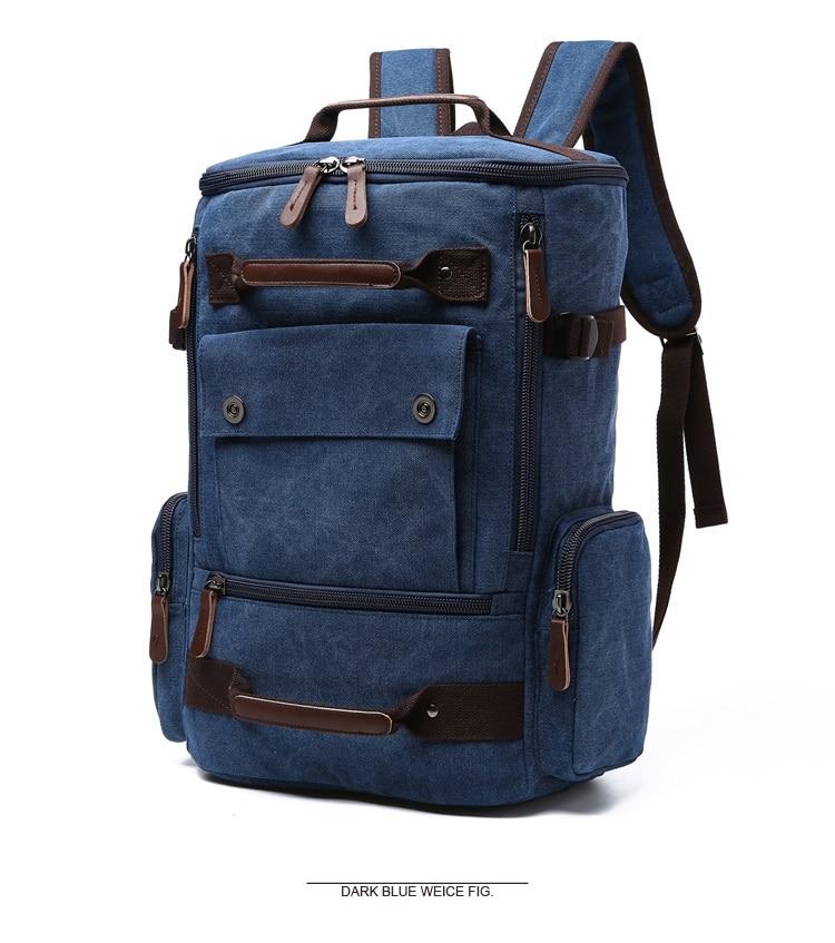Men Laptop Backpack 15 Inch Rucksack Canvas School Bag Travel Backpacks for Teenage Male Notebook Bagpack Computer Knapsack Bags 5