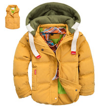 Зима двойной функцией дети вниз пальто, Жилеты, Девочки зима пальто, Мальчики парки девочки, Дети вниз куртка пальто мальчики