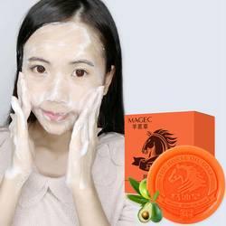 Конское масло увлажняющее мыло очищающее средство от акне Remova для тела Уход за лицом масло-контроль освежение отбеливание увлажняющий 80 г