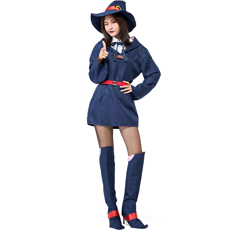 Anime Little Witch Academia Akko Kagari Dress Uniform Outfit Costumes Cosplay For Woman Halloween Party Cosplay