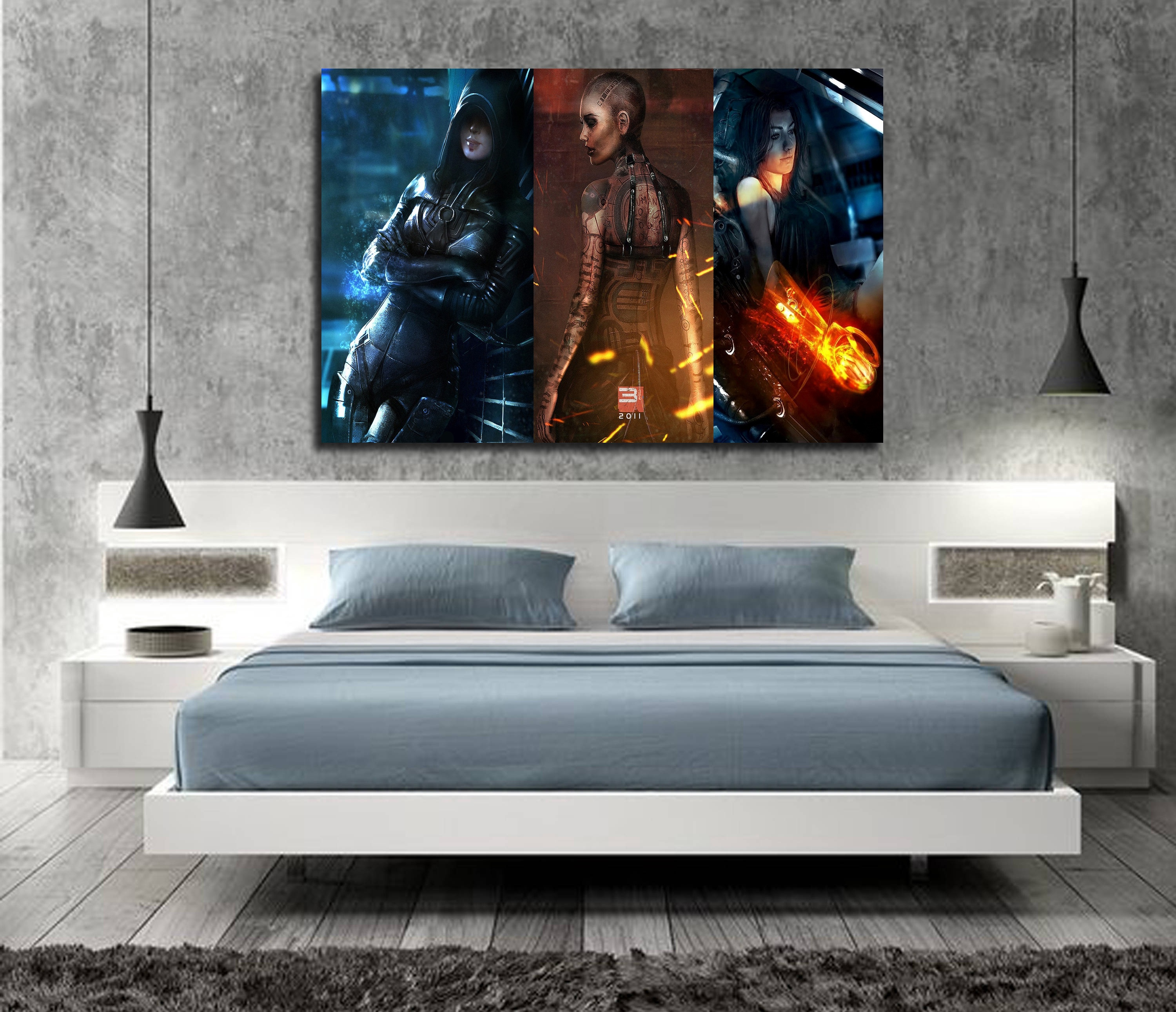 Mass Effect Game Poster Wall Art Wall Decor Silk Prints Art Poster Paintings for Living Room image