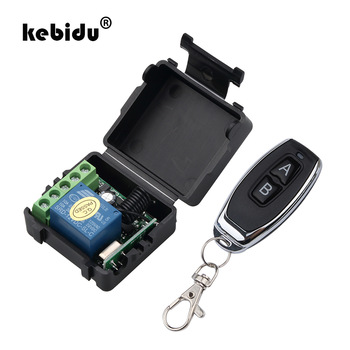 kebidu 1Pc RF Transmitter 433 Mhz Remote Controls with Wireless Remote Control Switch DC 12V 1CH relay Receiver Module 1