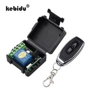 Image 1 - Kebidu 1Pc trasmettitore RF telecomandi 433 Mhz con interruttore telecomando senza fili modulo ricevitore relè DC 12V 1CH