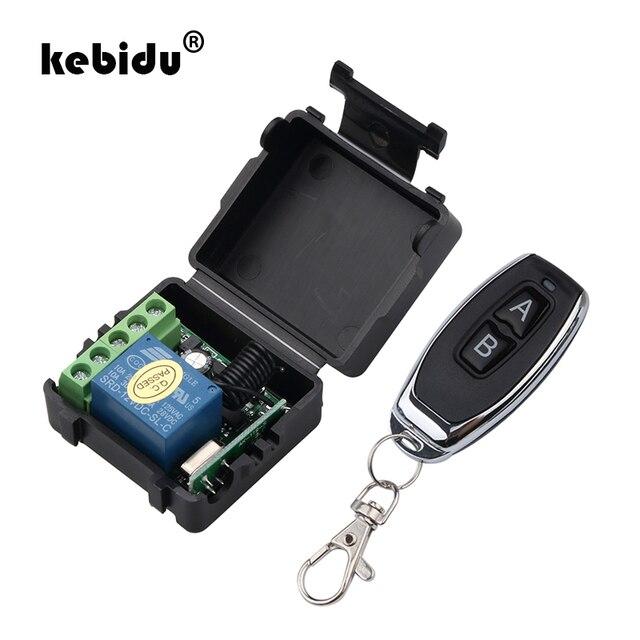 Kebidu 1Pc trasmettitore RF telecomandi 433 Mhz con interruttore telecomando senza fili modulo ricevitore relè DC 12V 1CH