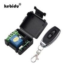 Радиочастотный передатчик kebidu, 1 шт., 433 МГц, пульт дистанционного управления с беспроводным пультом дистанционного управления, 12 В постоянного тока, 1 канальный модуль релейного приемника