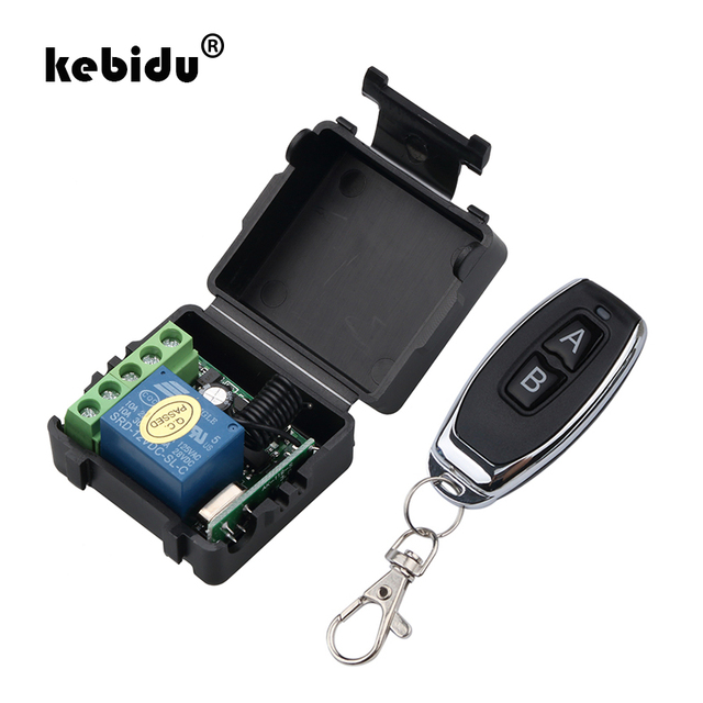 kebidu 1Pc RF Transmitter 433 Mhz Remote Controls with Universal Wireless Remote Control Switch DC 12V 1CH relay Receiver Module