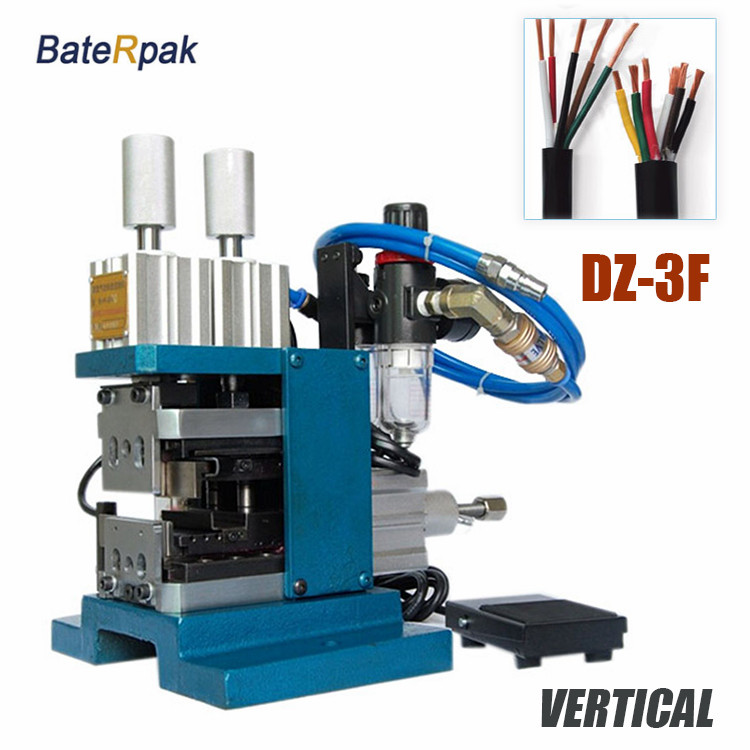 DZ-3F BateRpak Pneumatic VERTICAL cable stripping machine,wire plasitc peel off machine,electric wire stripper,220V,0.5-25MM