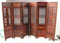 ( Mini ) Hand carved Chinese Boxwood & Sculpture Folding Screen