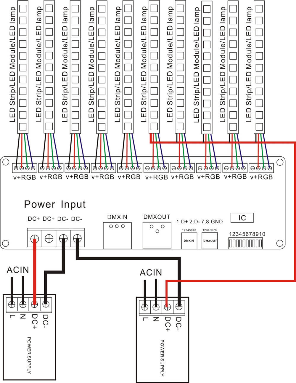 30 Channel Dmx Decoder With Rj45 And Xlr Plug 27 Dmx512 Power Over Ethernet Wiring Diagram Note The If You Need To Use A Computer Control We Proposed Purchase Our Usb Controllerwe Test Products Based On This Companys Controllerpls Buy