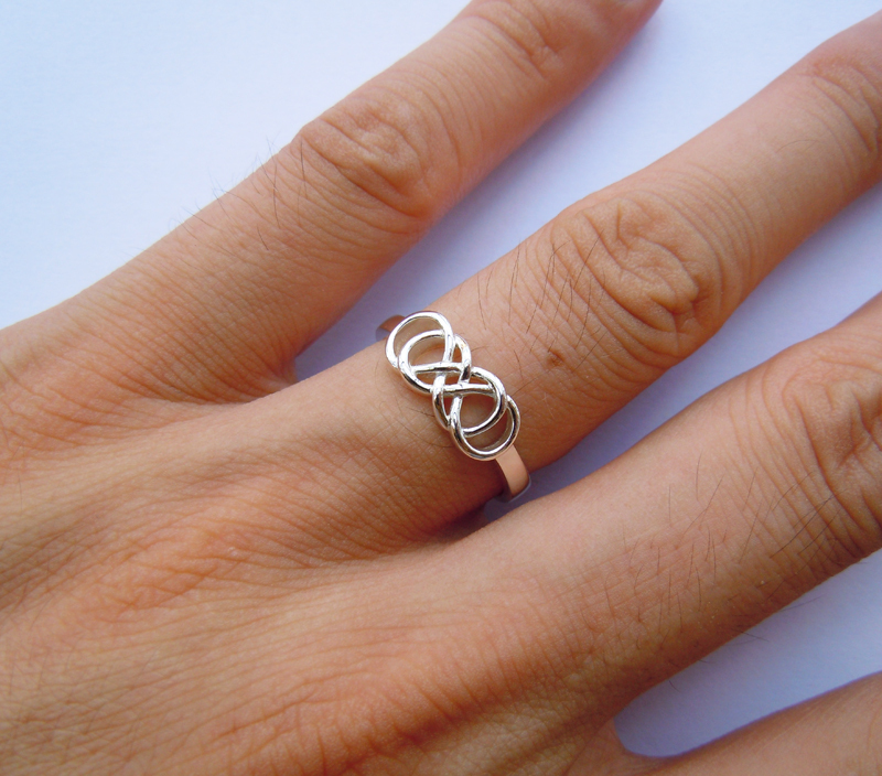 with donnaodesigns heart infinity ring by design made custom double