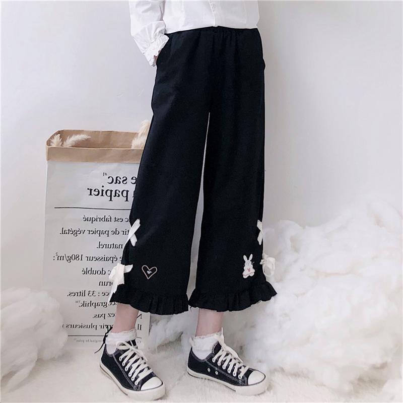 Women's Trousers Korean Japanese Harajuku Ulzzang Casual Loose Love Pants Female Cute Japan Harajuku For Women