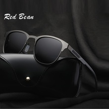 WIDTH-145 New Red Bean Brand Polarized Sunglasses Men Al Mg alloy polarized MALE With Accessories driving goggles