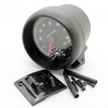 New 3 75 Car RPM Tachometer Tacho Gauge Automobile Meter Light 0 8000 rpm For 4