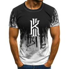 2019 hot new Kyrie Owen print T-shirt mens summer polyester short-sleeved hip-hop sale top