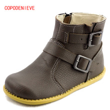 COPODENIEVE Girls leather shoes kids boots 2017 spring big Boys and girls boots student casual Martin boots Children's shoes