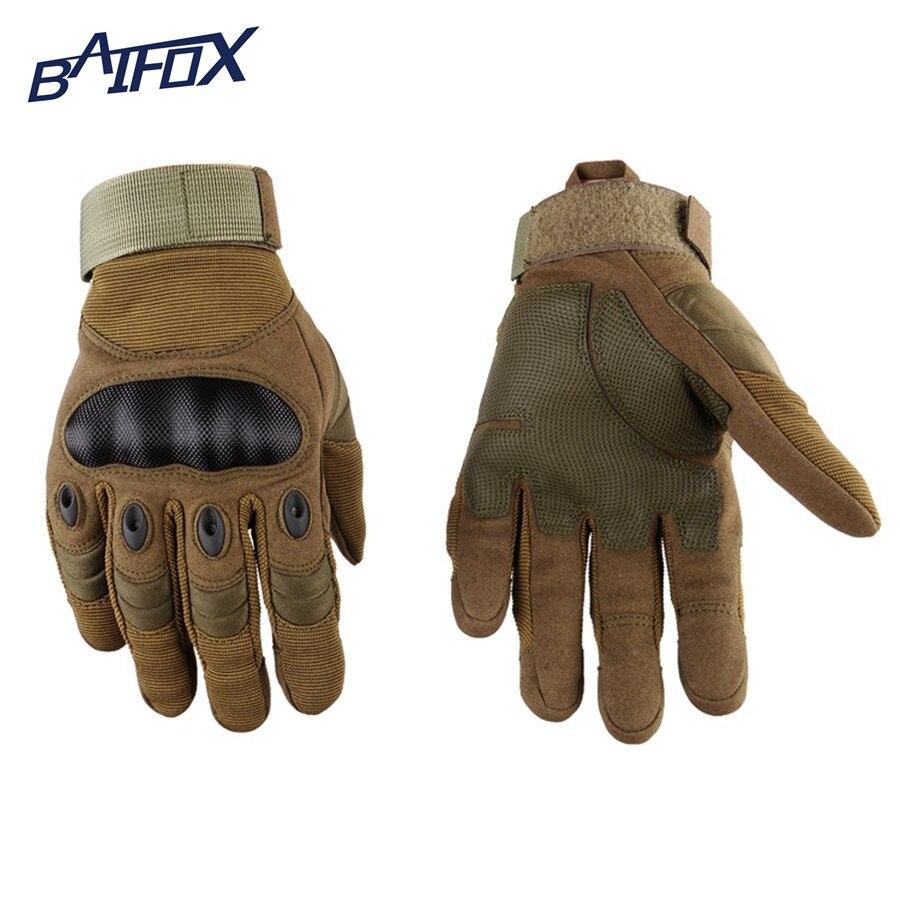 Hombres Invierno Guantes de los deportes al aire libre Completo Dedo guantes de