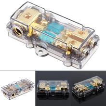 Universal 60A 1 In 2 Ways Copper Plated Car Stereo Audio Power Fuse Holder for Boat Auto Vehicles