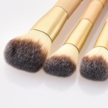 BBL 7pcs Bamboo Makeup Brushes Set Portable Face Powder Highlighter Blush Concealer Tapered Blending Eyeshadow Eyebrow Brush Kit 4