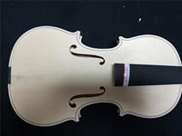 1 PC Quality Hand Made Whole Maple Back White Violin 4/4 with Ebony Fingerboard Spruce Top