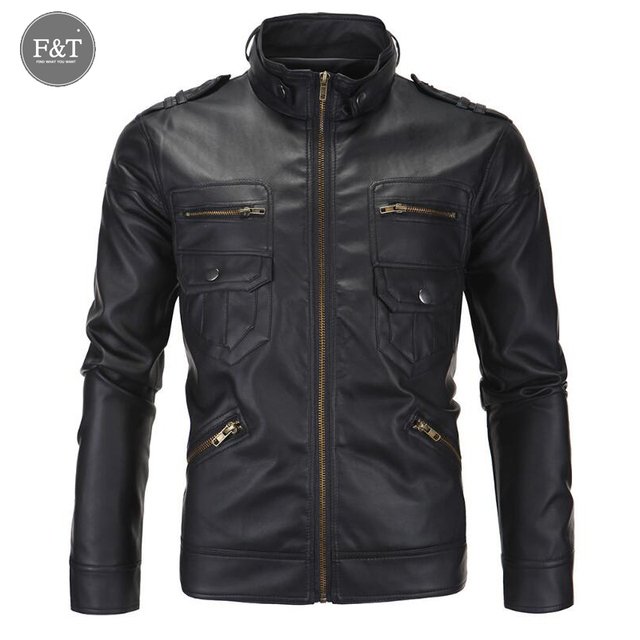 [Asian Size] Fashion Motorcycle Leather Jacket Men Winter Pilot Leather Jackets Coats Mens Famous Brand Jacket Jaqueta De Couro