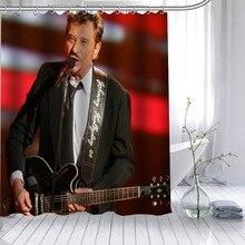 купить New Johnny Hallyday Custom Shower Curtain Waterproof Fabric Bath Curtain 180X200cm165X180cm Polyester Fabric Bathroom Curtain по цене 1253.93 рублей