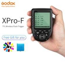 лучшая цена Godox XPro-F 2.4G TTL Wireless High Speed Sync 1/8000s Flash Transmitter X system High-speed Trigger For Fuji Cameras