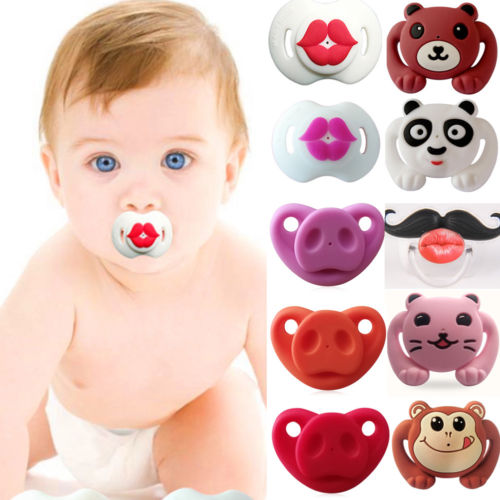 1Pcs Funny Baby Girl Boys Infant Dummy Pacifiers Silicone Feeding Smoother Orthodontic Teether Nipple Pacifier