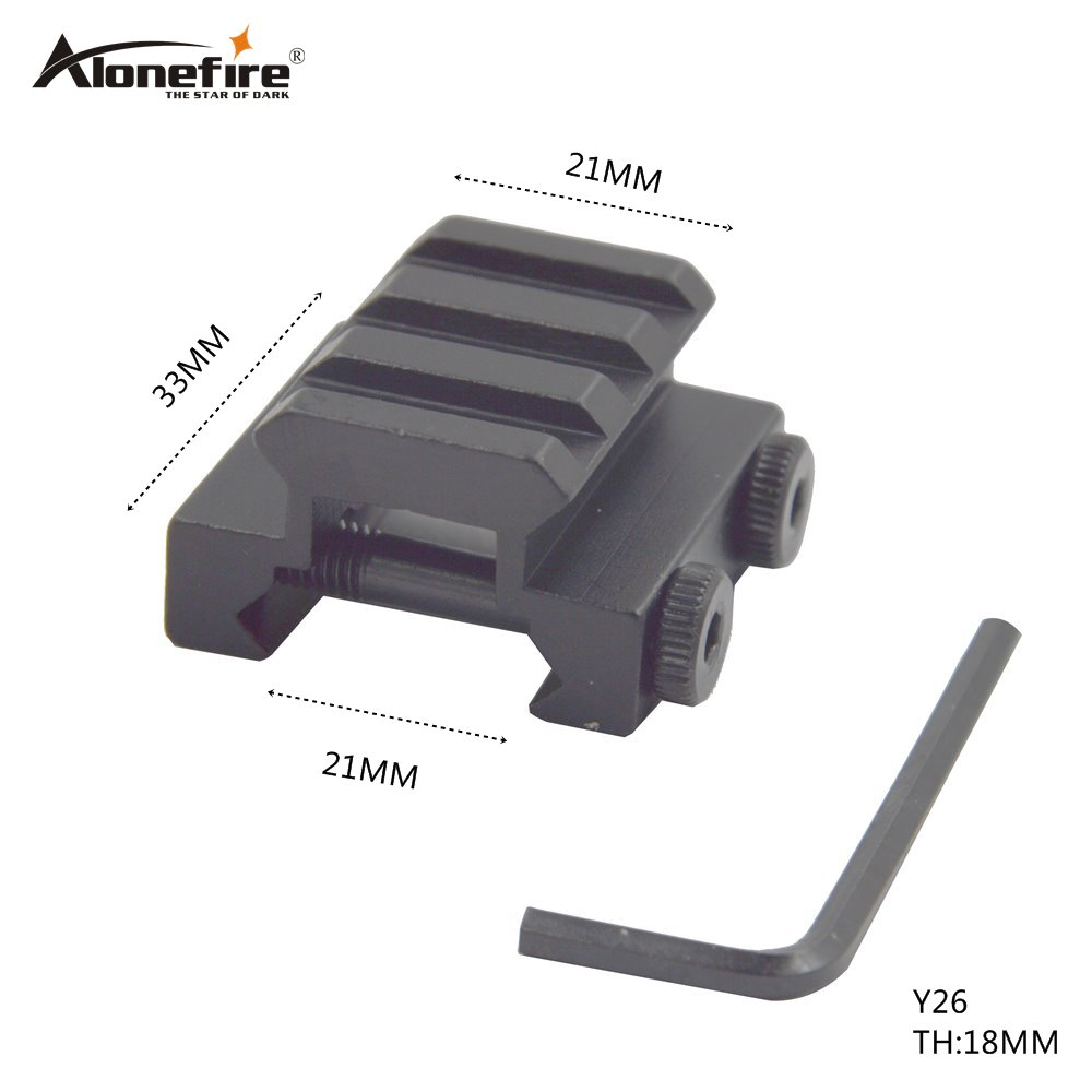 AloneFire  Y26 Tactical 3Slot Low Riser 20mm To 20mm Extensible Scope Bases Mount Weaver Picatinny Mount/Scope Mount Hunting