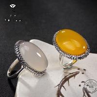 AIQICARAT S925 Sterling Silber power Ringe für frauen hochzeit schmuck Für retro stil Partei persönlichkeit Valentinstag Geschenk