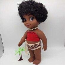 Boneca moana Vaiana moana maui Sing music 40cm vinyl doll cosplay princess adventure models cartoon movie