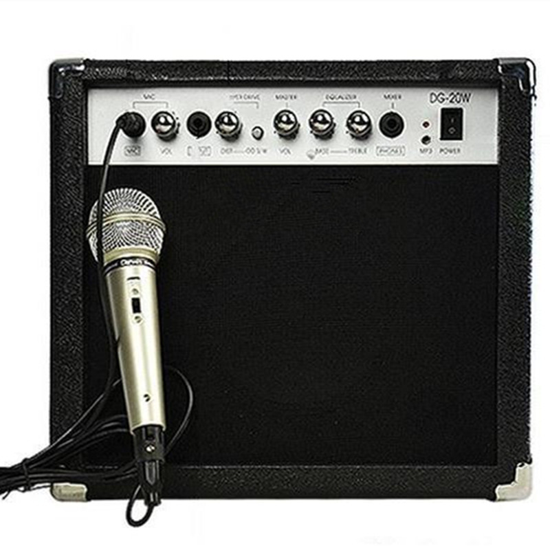 20w Acoustic Guitar Electric Guitar Amplifier guitar speaker with MIC Musical instruments accessories guitar parts free shipping black acoustic guitar electric guitar feet accessories guitar foot pedal guitar parts