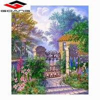 GOANG New Handicrafts garden 5D Diy Diamond Painting Cross Stitch scenery Diamond embroidery Mosaic European Home Decor