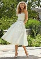 Vestido De Novia Sexy robe de mariee 2018 A Line Beading Sash Women Bridal Gowns New Arrival cheap short bridesmaid dresses