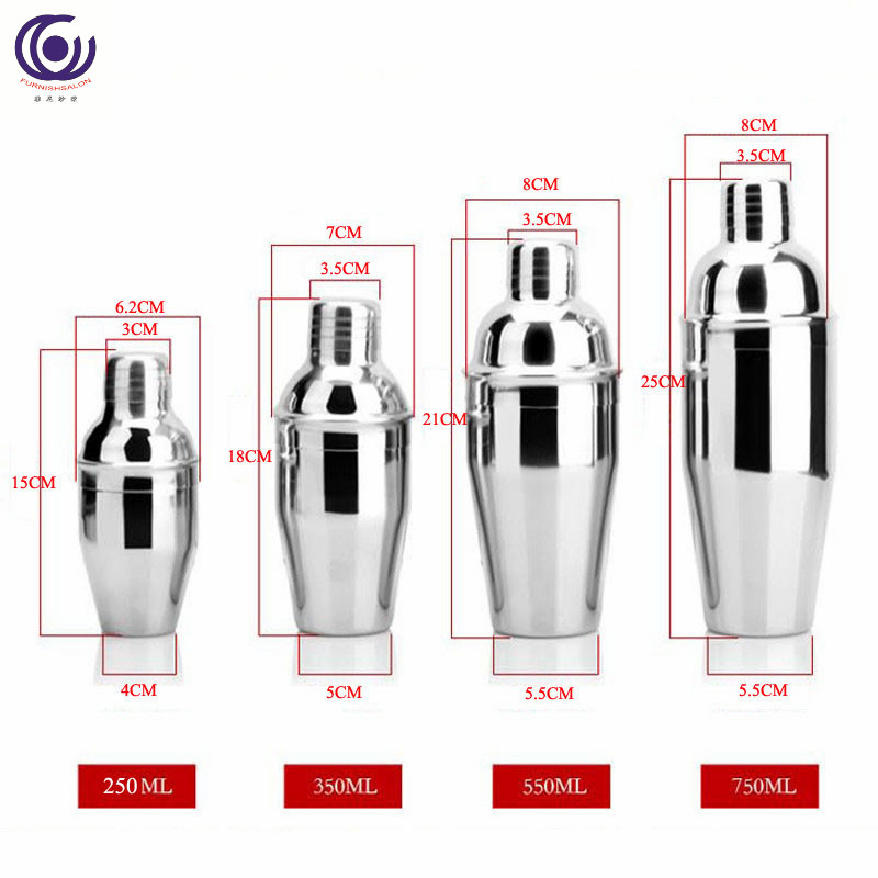 Stainless Steel Boston Cocktail Shaker Cup Professional Premium Barware Mixer Wine Martini Bartender Drink Party Bar Tool in Cocktail Shakers from Home Garden