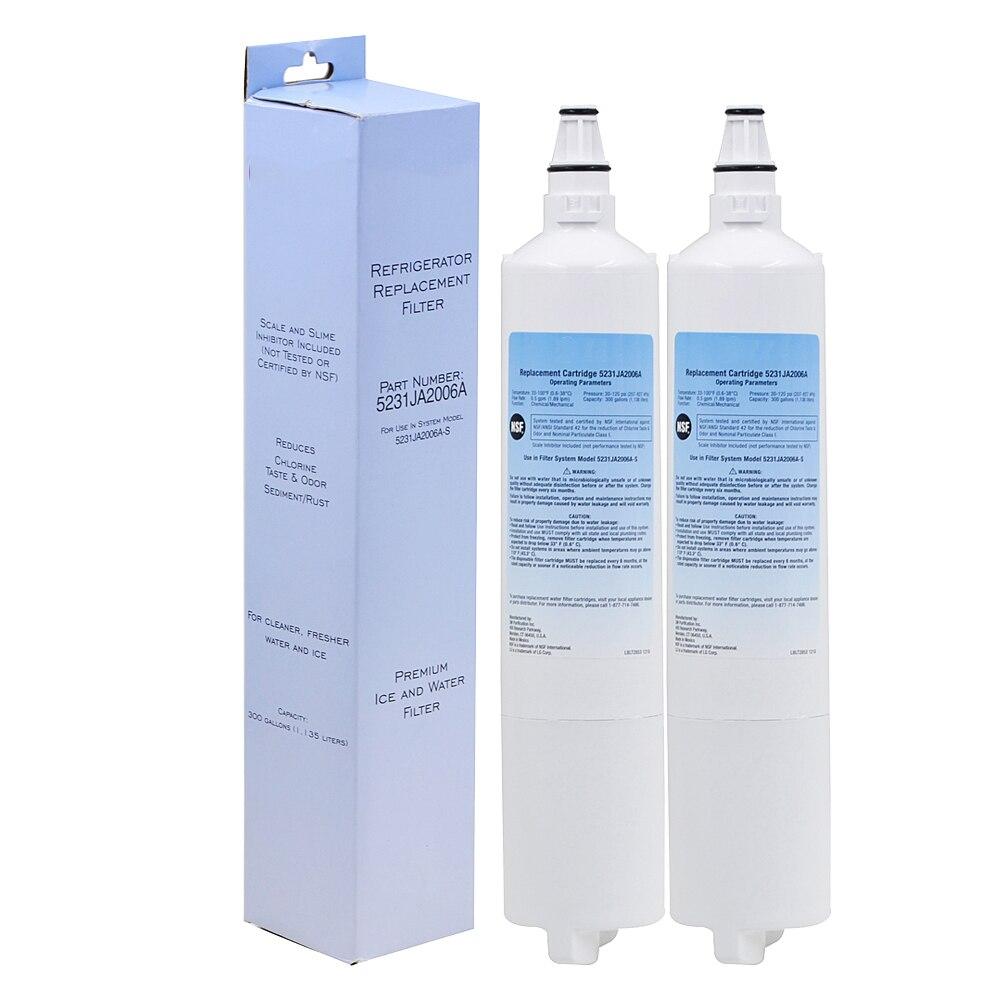 High Quality Household <font><b>Water</b></font> <font><b>Purifier</b></font> <font><b>Refrigerator</b></font> <font><b>Water</b></font> <font><b>Filter</b></font> Replacement for <font><b>LG</b></font> LT600P, 5231JA2005A, 5231JA2006 <font><b>2</b></font> Pcs/lot