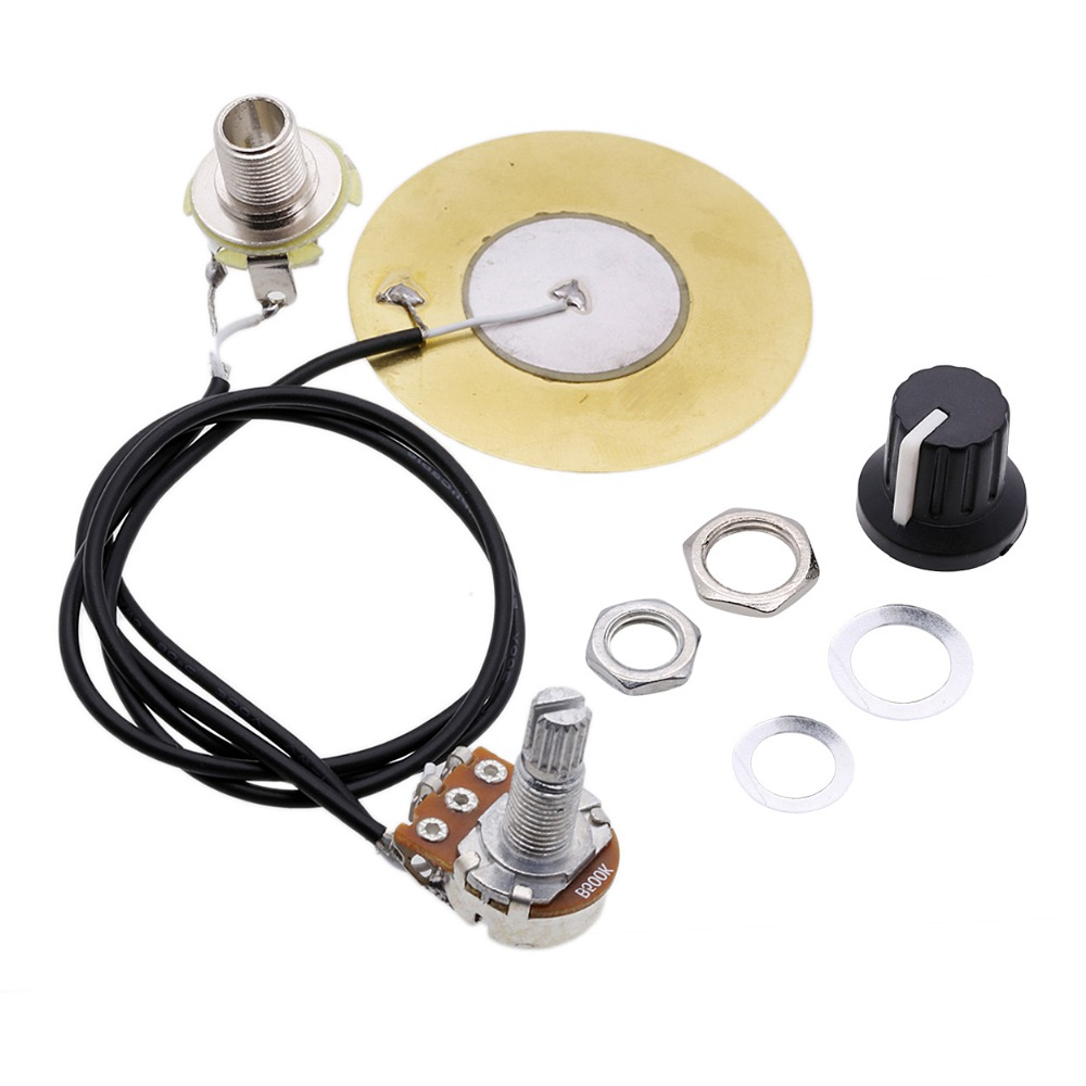 Electric Guitar Wiring Harness Prewired Kit 3 Way Toggle Switch 1 500k Volume Tone Jack For 50mm Pickup Piezo Transducer Amplifier With 635mm Output Acoustic Ukulele