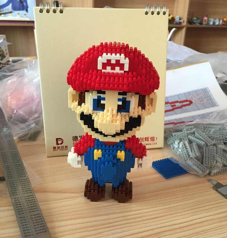 9003 Super Mario Boneca de Partículas de Diamante Diamante Tijolos Building Blocks Brinquedos Compatível com