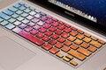 Бесплатная доставка Съемный Diy красочный яркий дизайн водо-и пыле клавиатура наклейки для компьютера mackbook воздуха