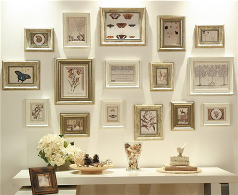 gold picture frames gold picture frames photo frame set wall mural black gray white wedding frames decor home gift removable in frame from home garden on - White Wall Frames