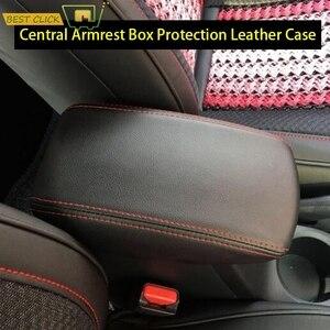 Image 1 - Dla Hyundai Creta ix25 2015 2019 główny schowek samochodowy w podłokietniku pokrywa konsola środkowa ochrona skórzany futerał akcesoria do stylizacji samochodów