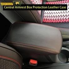 Für Hyundai Creta ix25 2015 2019 Auto Zentrale Armlehne Box Cover Center Konsole Schutz Leder Fall Auto Styling zubehör