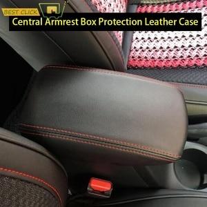 Image 1 - Funda para reposabrazos Central de coche, protección para consola Central, Funda de cuero, accesorios de estilismo para coche, para Hyundai Creta ix25 2013 2019