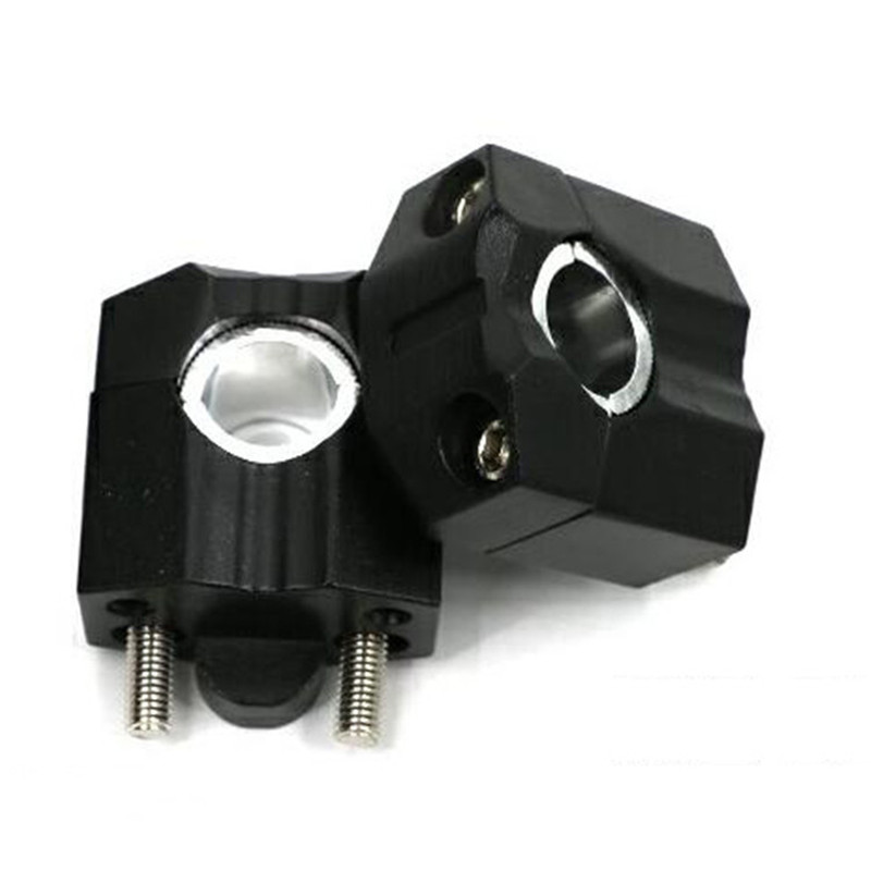 Adjustable Handle 22mm//28mm Motorcycle Handlebar Riser Black CNC Aluminum Alloy