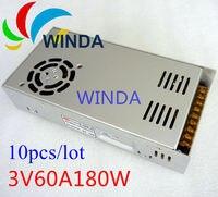 180 Watt led-anzeige schaltnetzteil dreifachausgang 3 V 60A ac dc-wandler 10 stücke GLOBALE GM