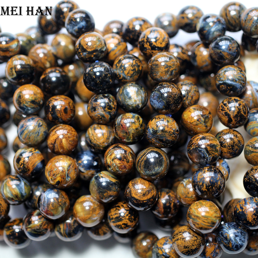 Wholesale 17 beads set 41g A natural 12 12 5mm Namibia Pietersite smooth round amazing beads