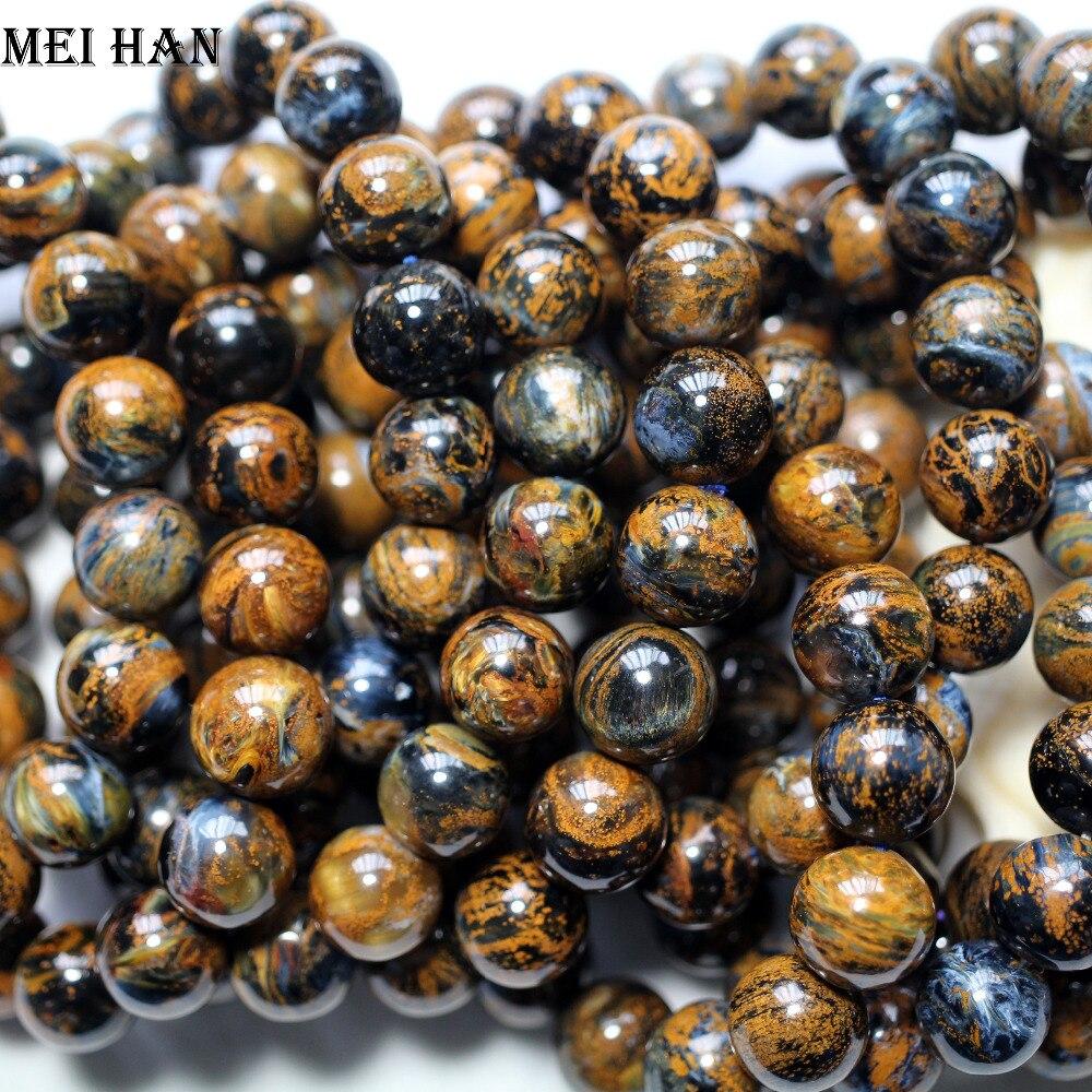 Vente en gros (17 perles/set/41g) A + + naturel 12 12.5mm namibie Pietersite lisse ronde perles étonnantes pierre pour la conception de fabrication de bijoux-in Perles from Bijoux et Accessoires    1