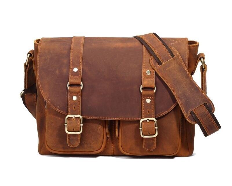 font b Men s b font font b Bags b font genuine leather handbags Vintage