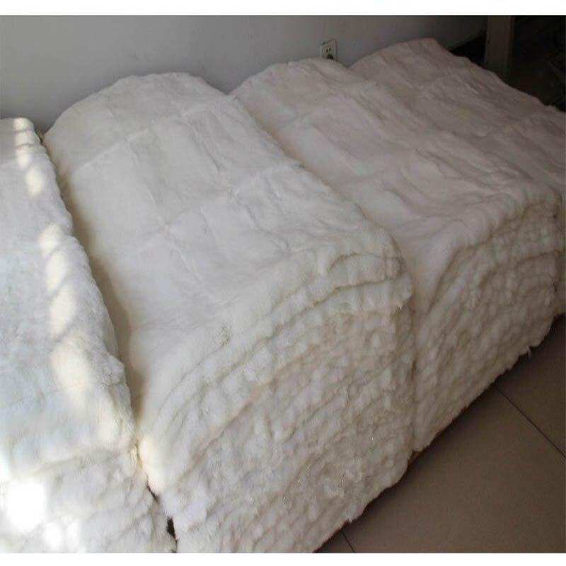 Rex lapin plaque de fourrure véritable tapis de fourrure artisanat accessoire couverture en cuir décoratif personnalisé